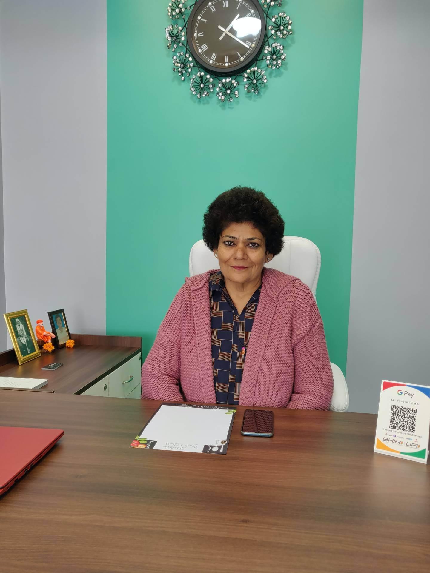 Dietitian Geeta Bhalla